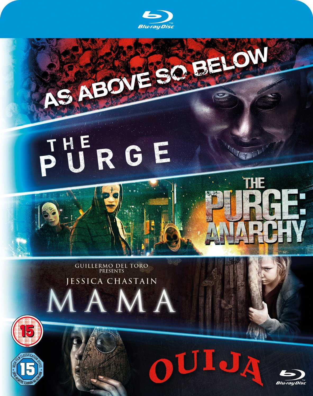 5-Movie Starter Pack: Mama/The Purge/Purge: Anarchy/OUIJA/As Above  So Below (Region Free) (Blu-ray)