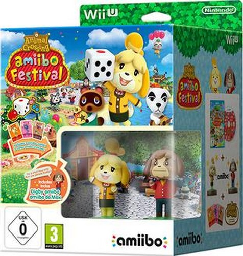 Animal Crossing: Amiibo Festival + Amiibo & 3 Amiibo Cards (Wii-U)
