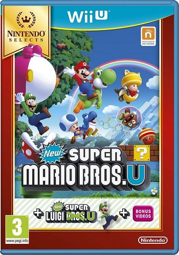 New Super Mario Bros U Inc. New Super Luigi U (Selects) (Wii-U)