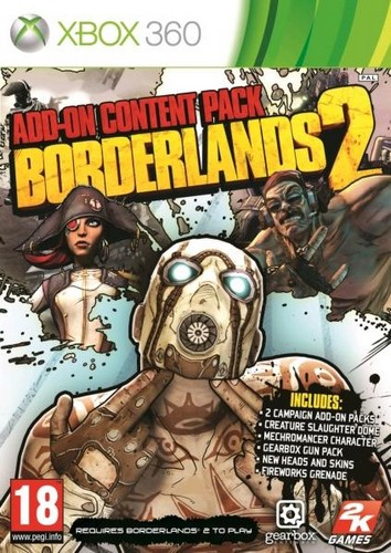 Borderlands 2 Game Add on Pack (Xbox 360)