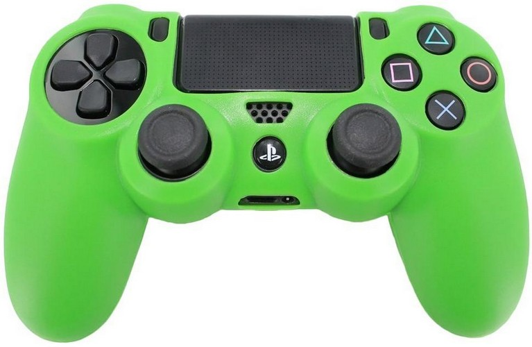 Pro Soft Silicone Protective Cover with Ribbed Handle Grip [Green] (PS4)