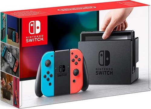 Nintendo Switch Console with Neon Red & Blue Joy-Con (UK) /Switch