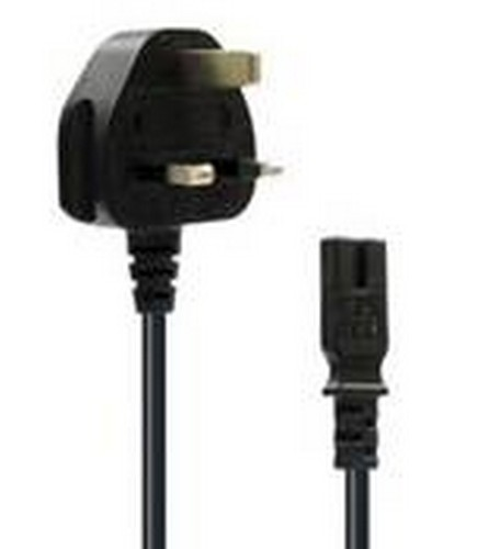 UK Power Cable (Fig 8) for PS2, PS3 SLIM & PS4 (PS2) (OEM)