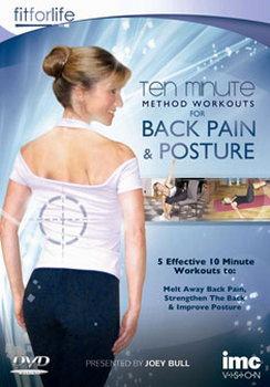 Back Pain & Posture Ten Minute Method Workouts (DVD)