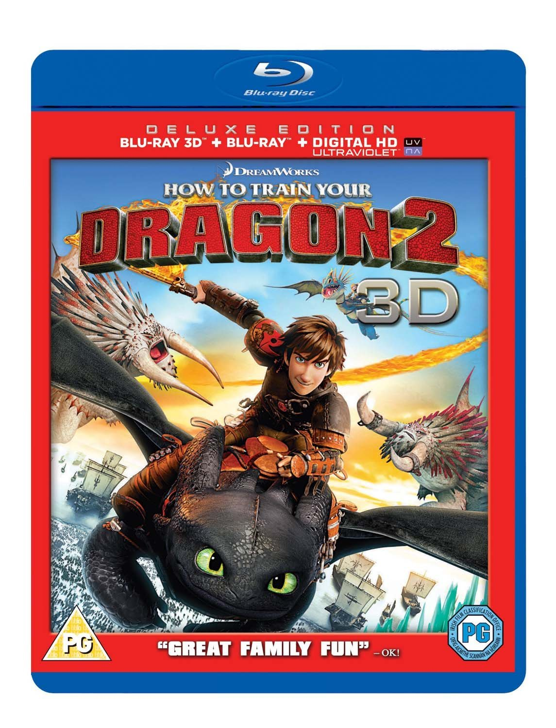 How to Train Your Dragon 2 (Blu-ray 3D + Blu-ray + UV Copy)