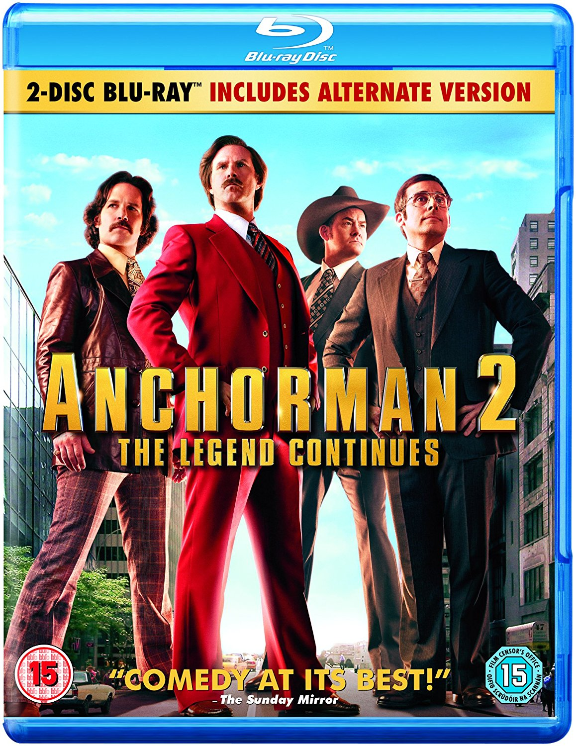 Anchorman 2: The Legend Continues - Theatrical & Alternate Versions (Blu-ray)