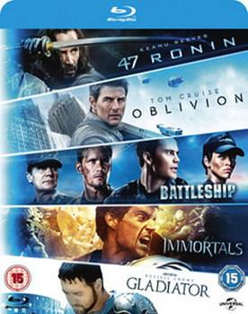 47 Ronin/Oblivion/Battleship/Immortals/Gladiator (Blu-ray)