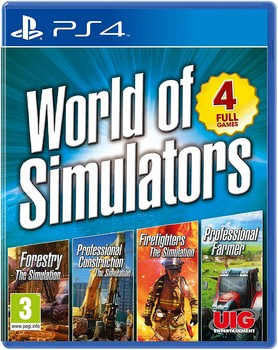 World Of Simulators - Forestry  Firefighters  Pro Farmer  Pro Construction (PS4)