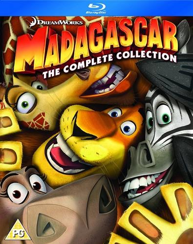 Madagascar 1-3 (Blu-ray)