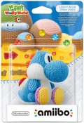 Amiibo Light Blue Yarn Yoshi (Yoshi's Woolly World Series)