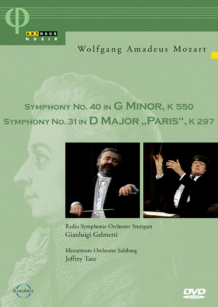 Mozart: Symphony No. 40 In G Minor KV 550 / Symphony No. 31 In D Major - Paris KV 297 (DVD)