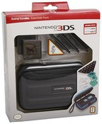 Game Traveller Essentials Pack for Nintendo 3DS (Plain Black with 3DS Logo) (3DS)