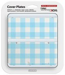Nintendo Official Cover Plate for New 3DS - Light Blue Check (3DS)