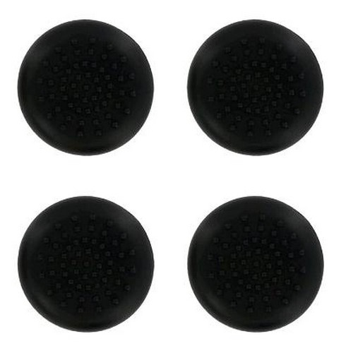 PS4 TPU Thumb Grips - Black (Assecure) (PS4)
