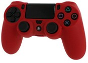 Pro Soft Silicone Protective Cover with Ribbed Handle Grip [Red] (PS4)