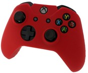 Pro Soft Silicone Protective Cover with Ribbed Handle Grip [Red] (Xbox One)