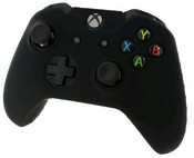 Pro Soft Silicone Protective Cover with Ribbed Handle Grip [Black] (Xbox One)