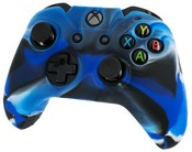 Pro Soft Silicone Protective Cover with Ribbed Handle Grip [Camo Blue] (Xbox One)