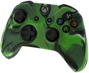 Pro Soft Silicone Protective Cover with Ribbed Handle Grip [Camo Green] (Xbox One)
