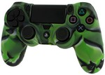 Pro Soft Silicone Protective Cover with Ribbed Handle Grip [Camo Green] (PS4)