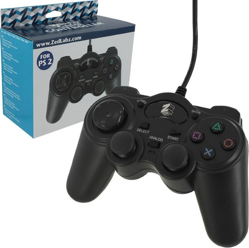 ZedLabz Wired PS2 Controller with Turbo Function (PS2)