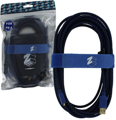 ZedLabz Ultra (Gold Plated) 5M Extra Long USB Charge Cable (PS4)
