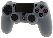 Pro Soft Silicone Protective Cover with Ribbed Handle Grip [Clear White] (PS4)
