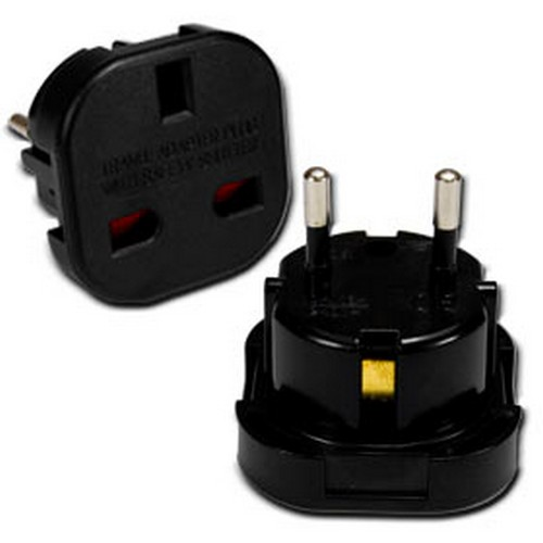 UK to EURO Plug Adaptor (BLACK) /POWER
