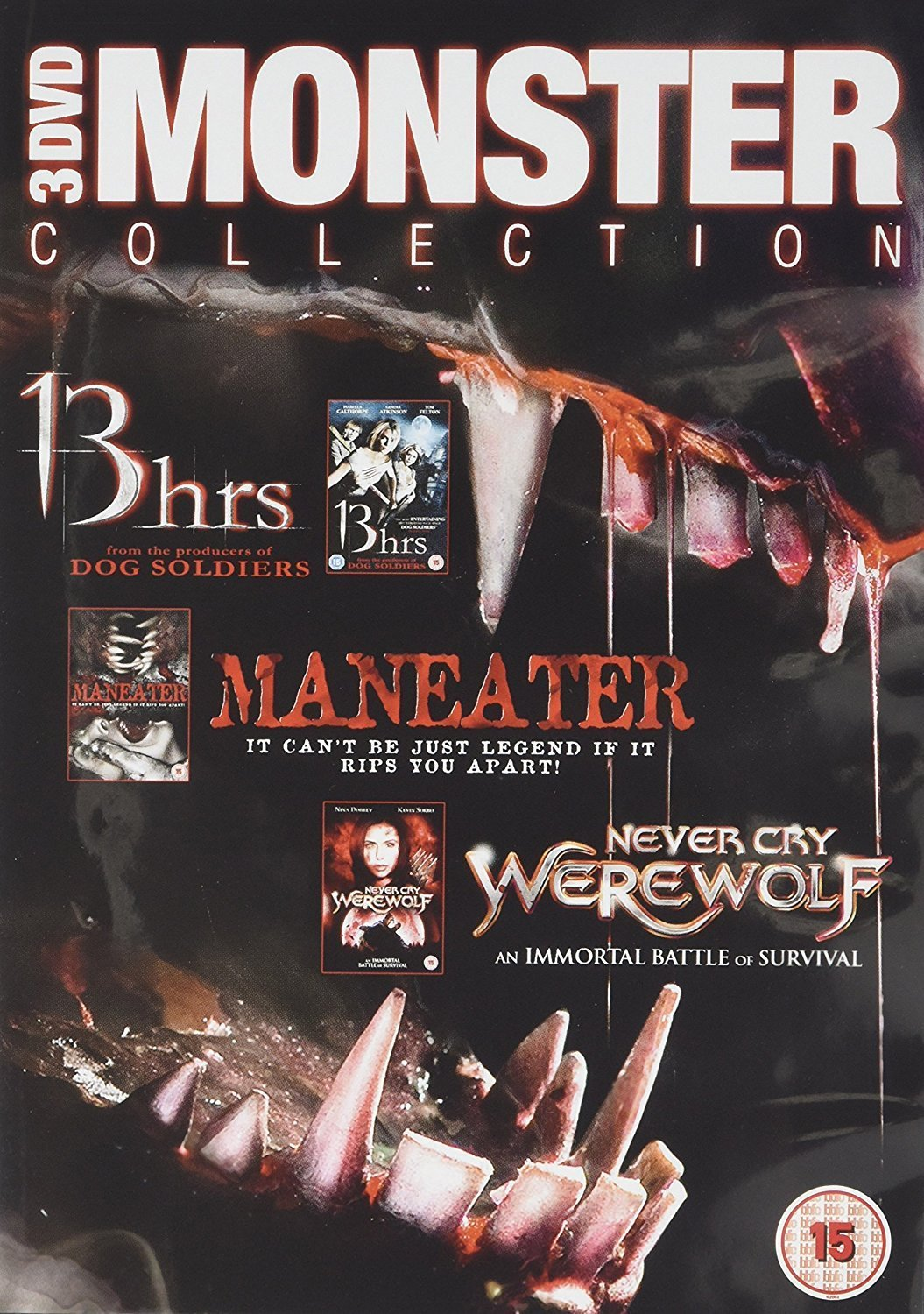 Monster Pack - 13 Hrs/Cry Wolf/Maneater (DVD)