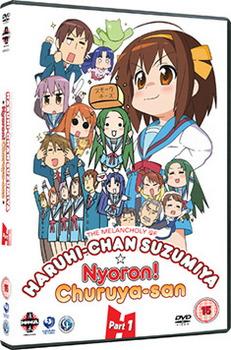 Melancholy Of Haruhi-Chan Suzumiya & Nyoron! Churuya-San - Collection 1 (DVD)
