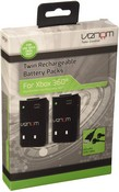 Venom Twin Rechargable Battery Packs - Black (Xbox 360)