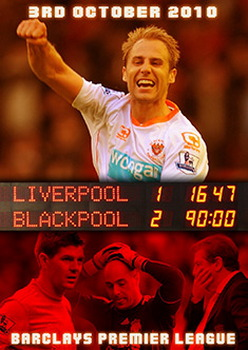Liverpool 1 Blackpool 2 - Barclays Premier League 3Rd October 2010 (DVD)