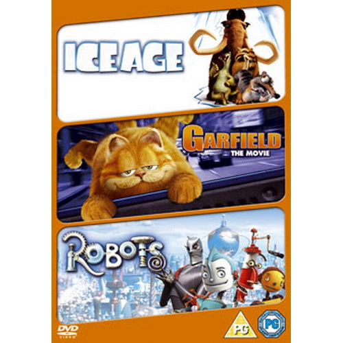 Robots / Ice Age / Garfield The Movie (DVD)