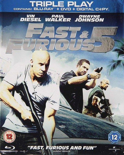 Fast & Furious 5 - Triple Play (Blu-ray + DVD + Digital Copy)