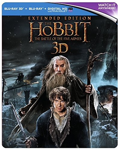 The Hobbit: The Battle Of The Five Armies - Extended Edition [Blu-ray] Steelbook