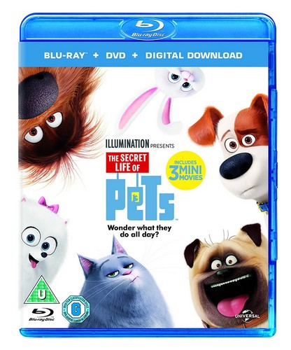 The Secret Life Of Pets (Blu-ray + DVD + Digital Download)