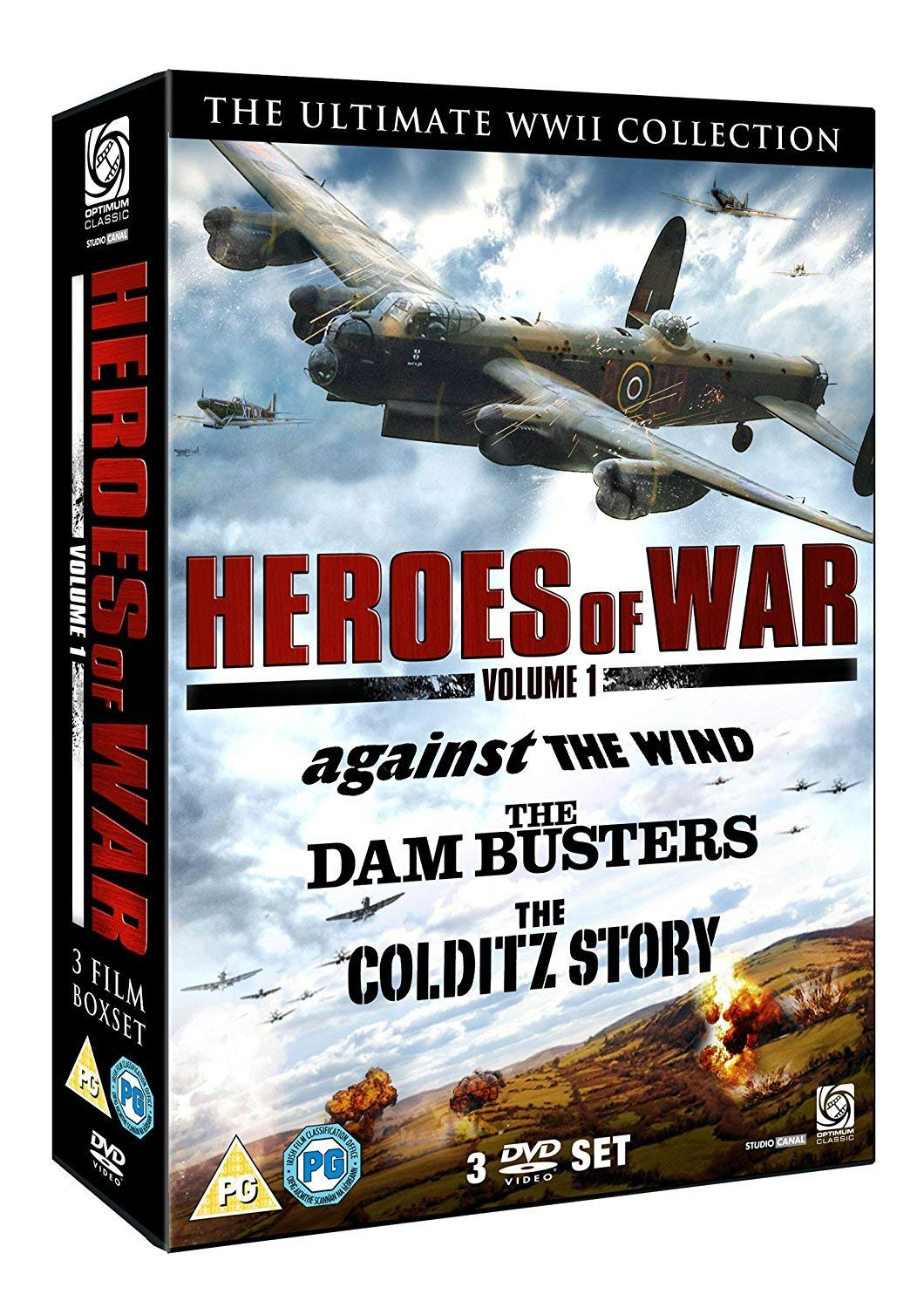 Heroes Of War Vol 1 (Dambusters  The/Against The Wind/Colditz Story) (DVD)